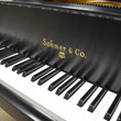 "Sohmer satin ebony 5'4"" grand with rosewood accents - Grand Pianos"