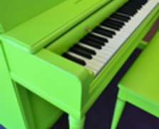Lime Green Wurlitzer Studio Piano