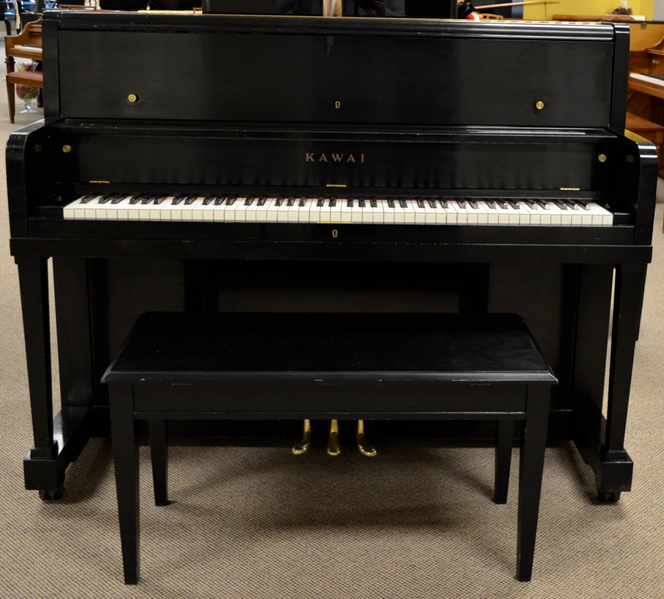 1967 Kawai Satin Ebony Studio - Upright - Studio Pianos