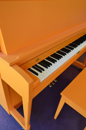 1978 Orange Baldwin Studio Piano - Upright - Studio Pianos