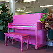 1975 PINK PIANO - Upright - Studio Pianos