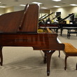 1987 Mahogany Yamaha Queen Anne grand piano and duet bench - Grand Pianos