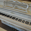 1960 Antique white Sohmer console piano - Upright - Console Pianos