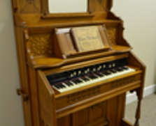 Fancy, antique Kimball pump organ