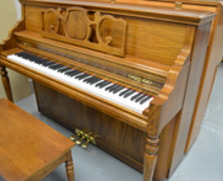 Kimball Concerto console, pecan