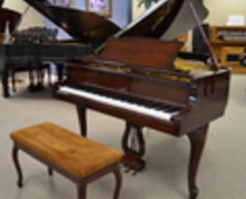 Mahogany Yamaha Queen Anne grand piano and duet bench