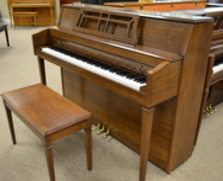 Yamaha M302 console piano, dark oak