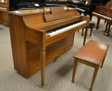 Hobart M Cable spinet, walnut