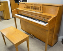 Yamaha M302 console piano in American oak