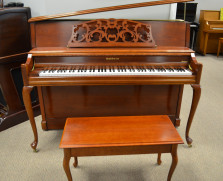 Baldwin Acrosonic console, Queen Anne cherry