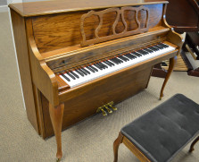 Kimball Queen Anne console piano