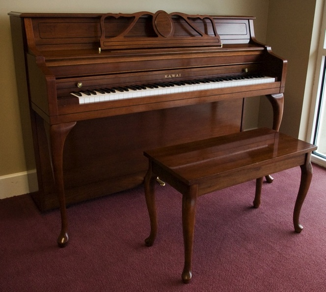 1990 Kawai Cherry Console - Upright - Console Pianos