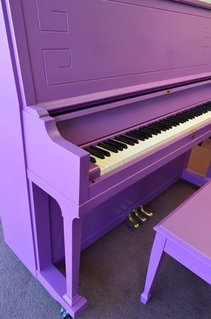 1970 Purple Mason & Hamlin - Upright - Studio Pianos