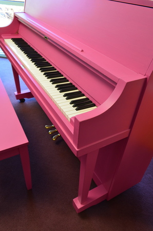 1975 Pink Yamaha Studio Piano - Upright - Studio Pianos