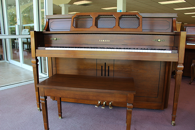 1991 Dark walnut Yamaha console piano - Upright - Console Pianos