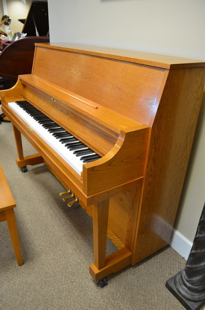 1996 Yamaha P22 studio piano, oak - Upright - Studio Pianos