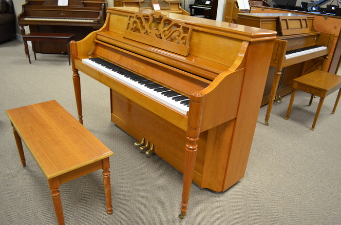 1999 Charles R Walter console, light cherry - Upright - Console Pianos