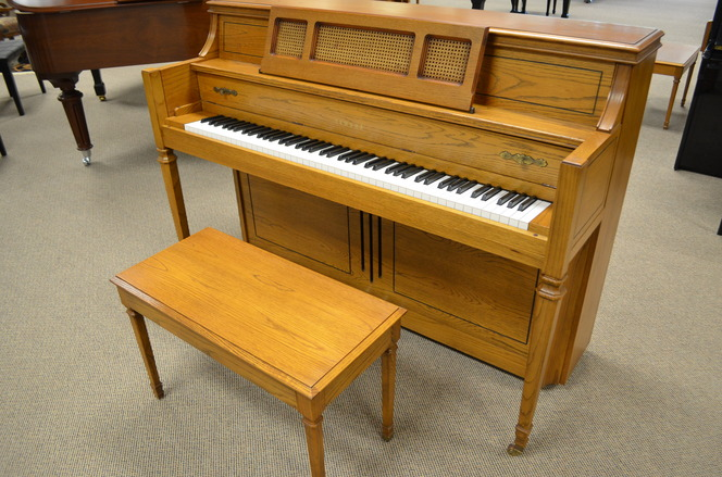 1988 Yamaha M402 oak console - Upright - Console Pianos